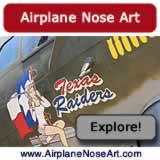 Airplane nose art from World War II and modern-day ... click to explore nose art photography