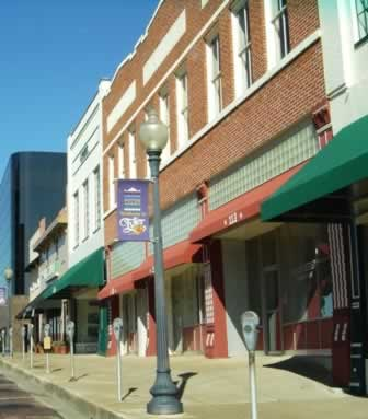 Streetscape, downtown Tyler