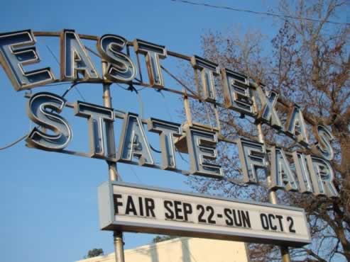 East Texas State Fair held each fall in Tyler, Texas
