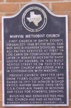 Marvin Methodist Church Historic Marker