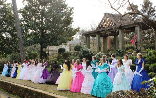 Tyler Azalea Belles for 2014 at the ribbon cutting ceremony, March 21, 2014