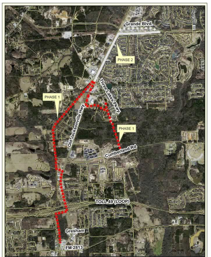The Legacy Trails System In Tyler Texas Route Map Of