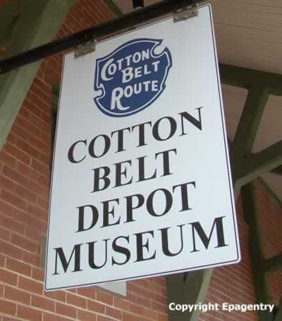 Sign at the Cotton Belt Depot Museum, Tyler Texas