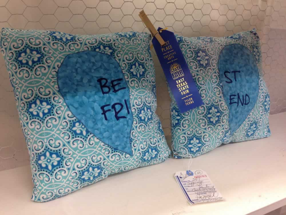 A well-deserved blue ribbon in creative arts at the 2016 East Texas State Fair !