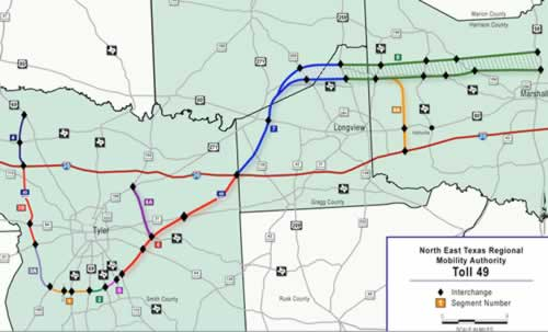 Toll Roads In Houston Map.Texas Toll Loop 49 Around Tyler Texas Segments Toll 49 Maps East