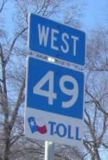 Texas Toll 49, Tyler Texas