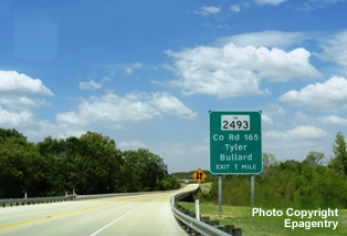 Completed segment of Toll Loop 49 in Tyler