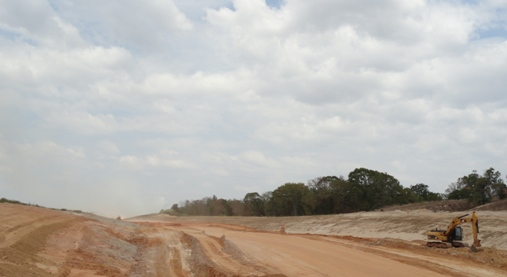 Construction of Toll Loop 49 Segment 3A west of Highway 155 (September 2011)
