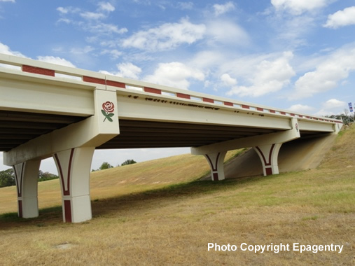 Completed overpass on Toll Loop 49 Segment 1 near Old Jacksonville Highway in Tyler
