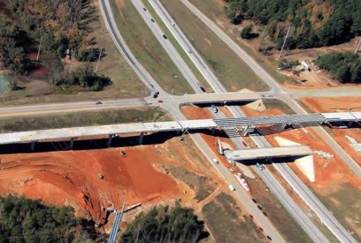 Toll 49 and Interstate 20 interchange