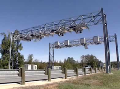 Automated toll collection system on Toll Loop 49 In Tyler, Texas