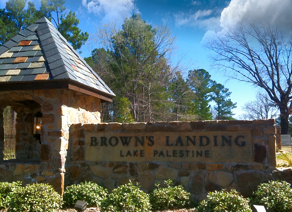 Brown's Landing, a luxury, gated lakefront development on Lake Palestine