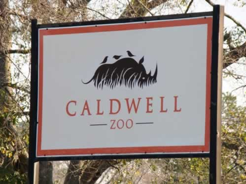 Entrance sign at the Caldwell Zoo