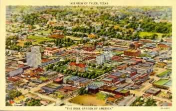 Historic postcards from Tyler Texas ... click for a sampling of other postcards about Tyler ... click for details