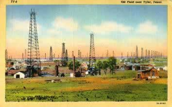 Oil fields near Tyler Texas