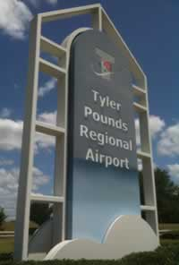 Tyler Pounds Regional Airport, serving all of East Texas with jet service with nationwide flight connections