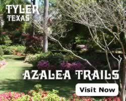 Seasonal events in Tyler include the Azalea Trails and Spring Flower Show