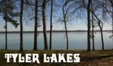 Lake Tyler and Lake Palestine in East Texas