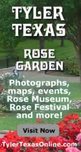 Tyler Texas Rose Garden, photos, maps, events, rose industry, rose festival ... click to learn more