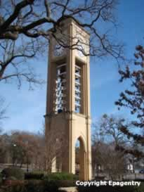 The Ritter Tower at the University of Texas at Tyler, the largest carillon in the State of Texas